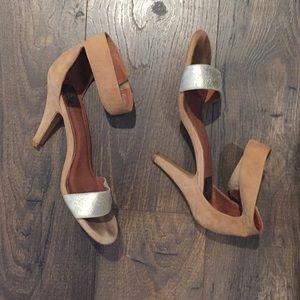 Jeffrey Campbell foxtrot sandal glitter heels